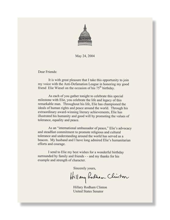 ... : Elie Wiesel Journal, In-Tribute Letter Page - Chris Carline Design